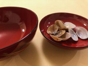 和食マナー蓋に貝殻